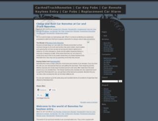 carandtruckremotes2003.wordpress.com screenshot