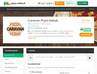 caravan.pizza-online.fi screenshot