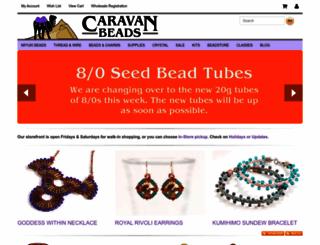 caravanbeads.com screenshot