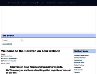 caravanontour.com screenshot