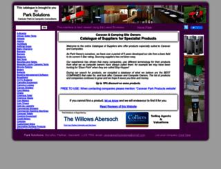 caravanparkproducts.co.uk screenshot