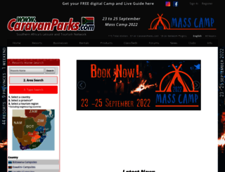 caravanparks.com screenshot