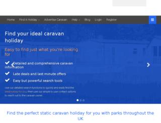 caravans4let.co.uk screenshot