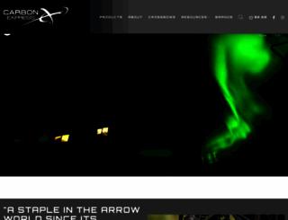 carbonexpressarrows.com screenshot