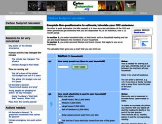 carbonindependent.org screenshot