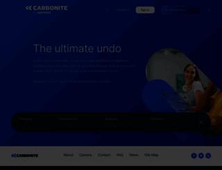 carbonite.com screenshot