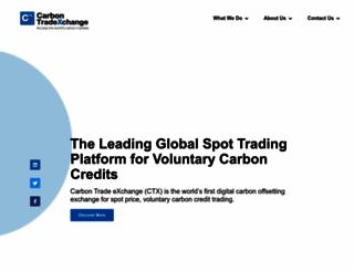 carbontradexchange.com screenshot
