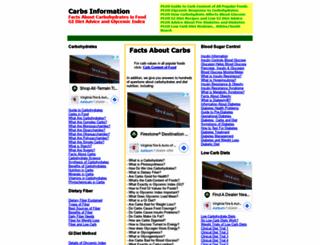 carbs-information.com screenshot