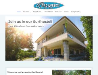 carcavelossurfhostel.com screenshot