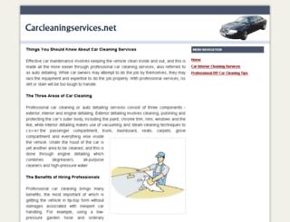 carcleaningservices.net screenshot