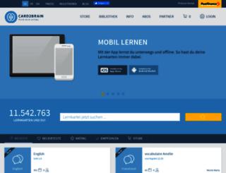 card2brain.ch screenshot