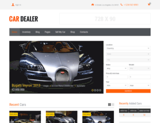 cardealer.webtemplatemasters.com screenshot