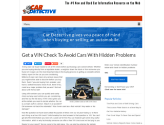 cardetective.com screenshot