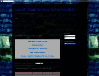 cardifffourfiveone.blogspot.co.uk screenshot
