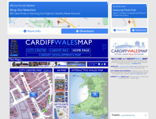 cardiffwalesmap.com screenshot