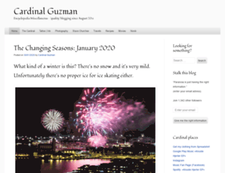 cardinalguzman.wordpress.com screenshot