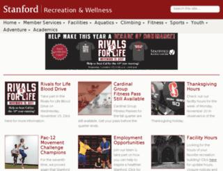 cardinalrec.stanford.edu screenshot