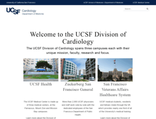 cardiology.ucsf.edu screenshot