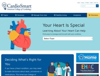 cardiosmart.com screenshot
