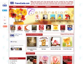 cards.100free-ecards.com screenshot
