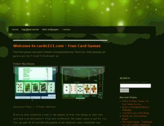 cards111.com screenshot