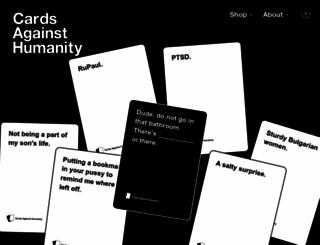 cardsagainsthumanity.com screenshot