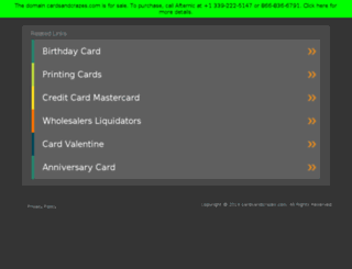 cardsandcrazes.com screenshot