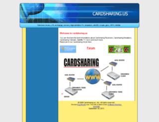 cardsharing.us screenshot