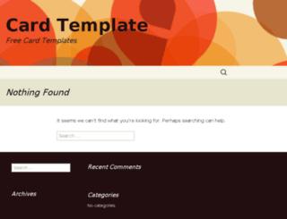 cardtemplates.com screenshot