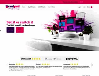 cardyard.com screenshot