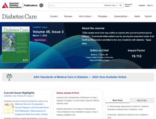 care.diabetesjournals.org screenshot