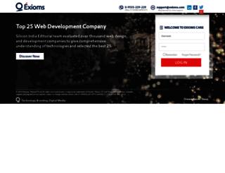 care.exioms.com screenshot