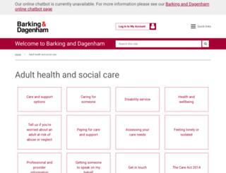 careandsupport.lbbd.gov.uk screenshot