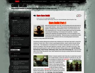 carecure.wordpress.com screenshot