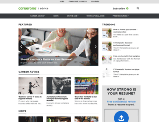 career-advice.careerone.com.au screenshot
