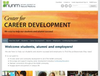 career-alumni.ncnm.edu screenshot