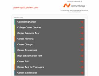 career-aptitude-test.com screenshot
