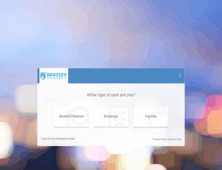 career-bentley-csm.symplicity.com screenshot