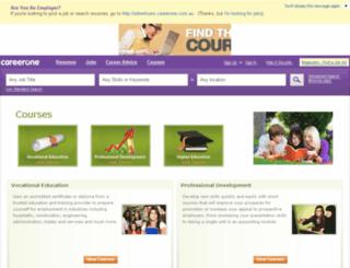 career-services.careerone.com.au screenshot