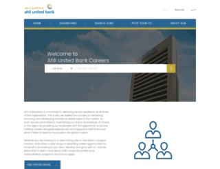 career.ahliunited.com screenshot