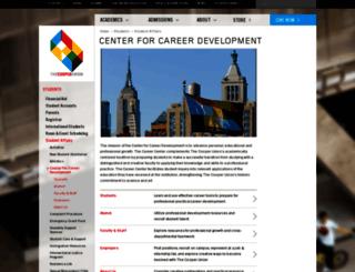 career.cooper.edu screenshot