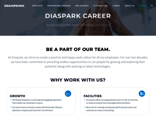 career.diaspark.com screenshot
