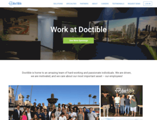 career.doctible.com screenshot