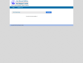 career.goashipyard.co.in screenshot