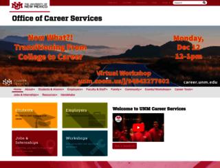career.unm.edu screenshot