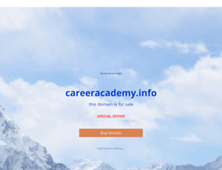 careeracademy.info screenshot