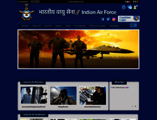 careerairforce.nic.in screenshot