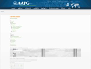 careercenter.aapg.org screenshot