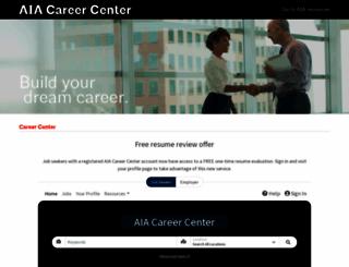 careercenter.aia.org screenshot