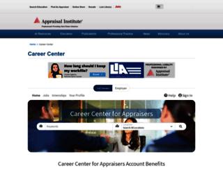 careercenter.appraisalinstitute.org screenshot